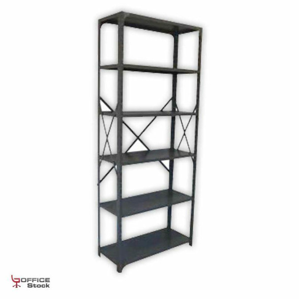 Open Steel Shelving Unit with corner gussets with 6 Shelves