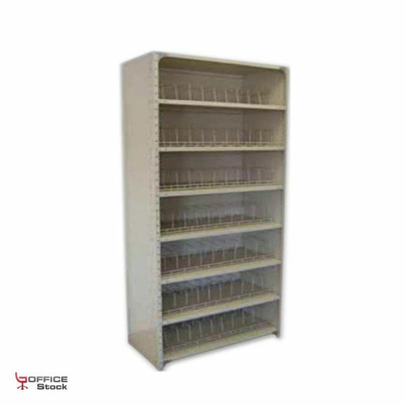 Open Steel Shelving Unit with corner gussets with 8 Shelves