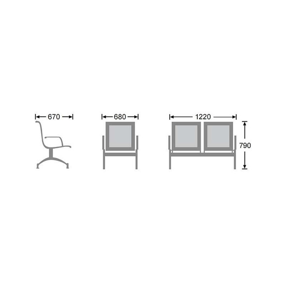 1-Seater Heavy Duty Airport Bench