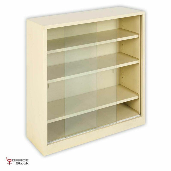 BC20 Steel Bookcase with Sliding Doors