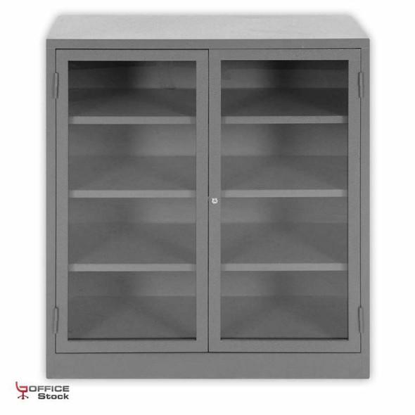 Hinge Door Bookcase with Glass Door