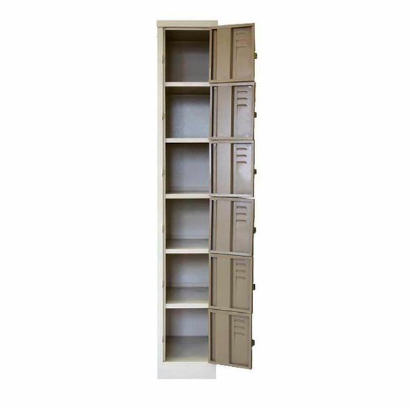 6 Tier - Compartment Steel Locker