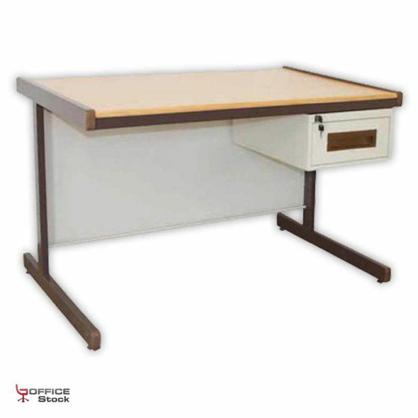 Steel Atlantic Desk with One Drawer