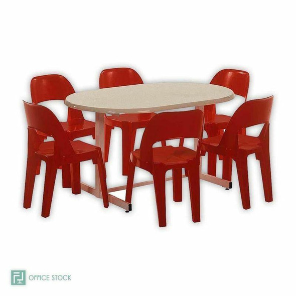 Oval Fibreglass Table