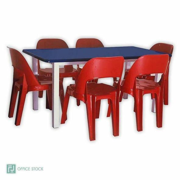 Rectangular Fibreglass Table with Metal Cradle Stand