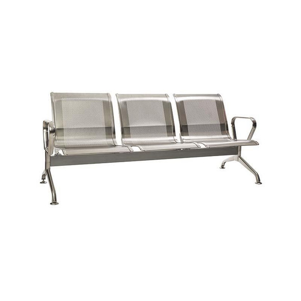 3-Seater Stainless Steel Airport Bench