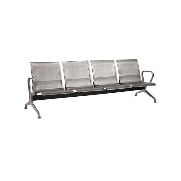 4-Seater Stainless Steel Airport Bench