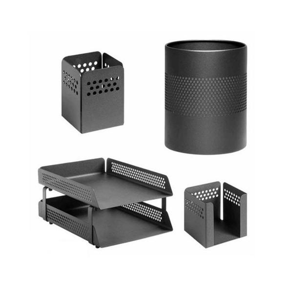 Perforated Desk Set