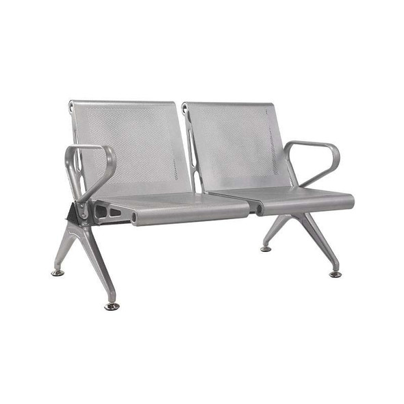 2-Seater New Chrome Delux Airport Bench
