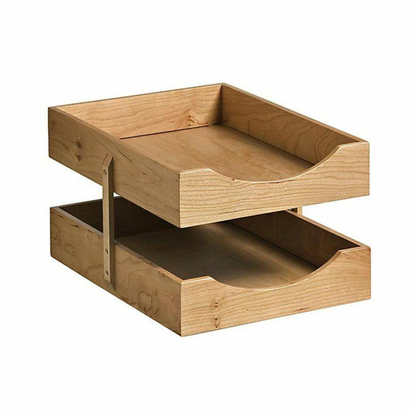 2 Tier Solid Wood Letter Tray