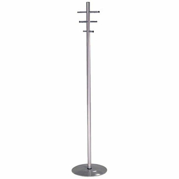 Chrome Coat And Stand With 6 Hooks