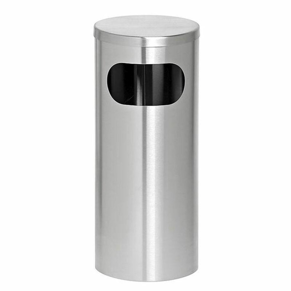 Solid Ashtray And Litter Bin Closed Lid