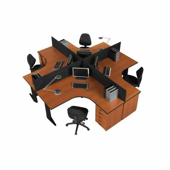 Euro 4 Way Cluster Desk