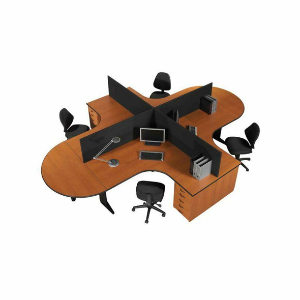 Euro 4 Way Cluster Desk - 2
