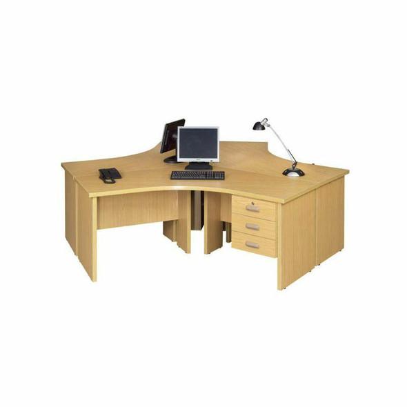 Value 3 Way Cluster Desk