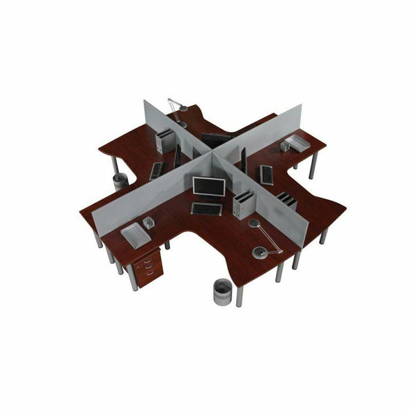 Value Flair 4 Way Cluster Desk