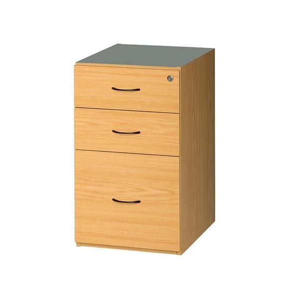 2 Drawers 1 Deep Filer Desk Height Pedestal