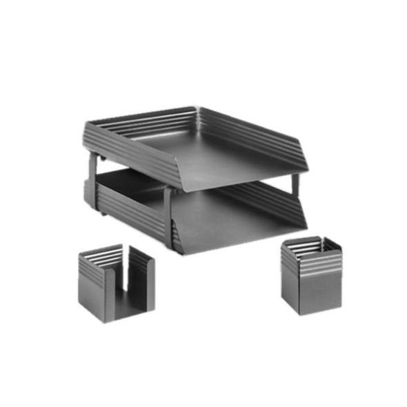 Fluted Steel Desk Set