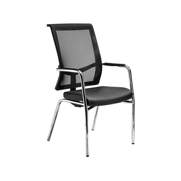 Equinox Mesh Four-Legged Visitor Chair