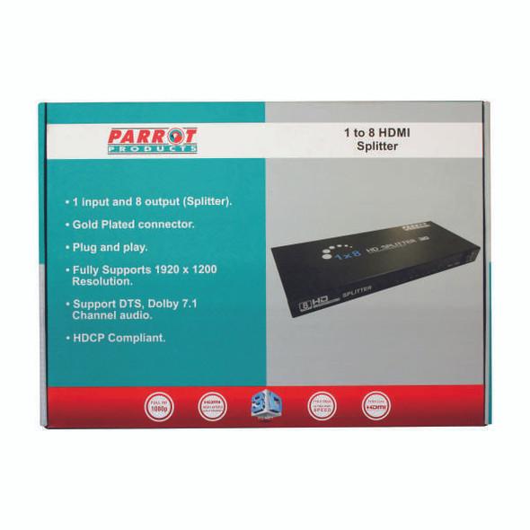 Adaptor - 1 To 8 HDMI Splitter