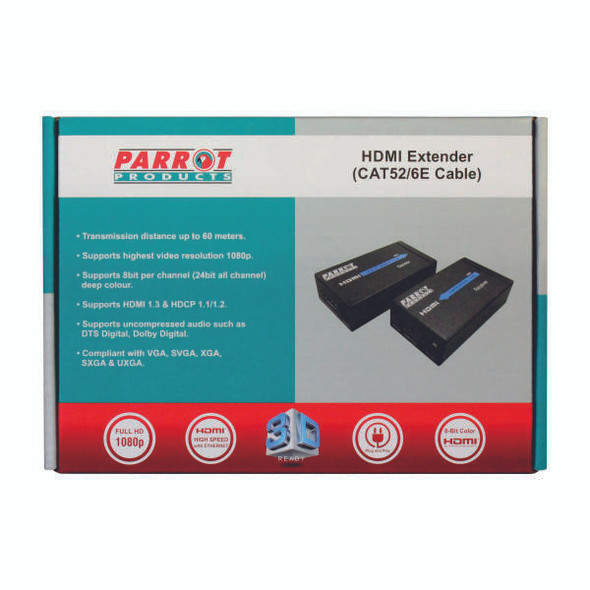 HDMI Extender over CAT52/6E network cable