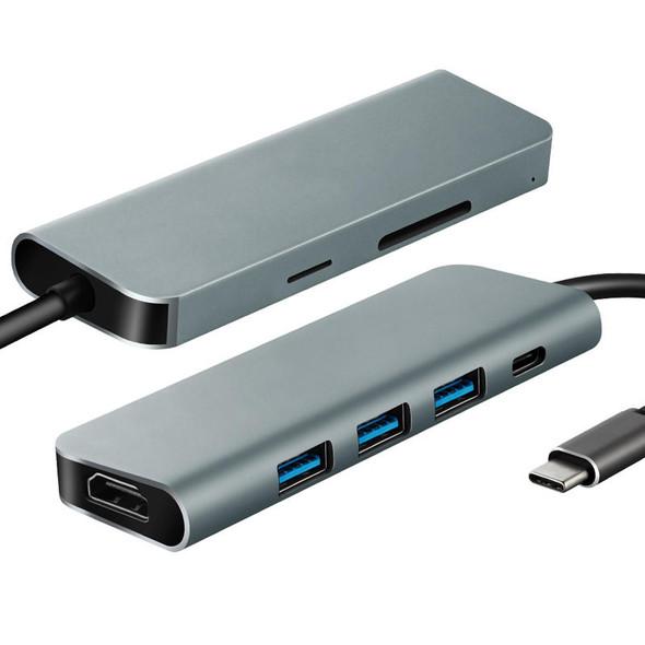 7 in 1 USB C Hub HDMI x 1 - USB 3.0 x 3 - DP x 1 - SD x 1 - TF x 1
