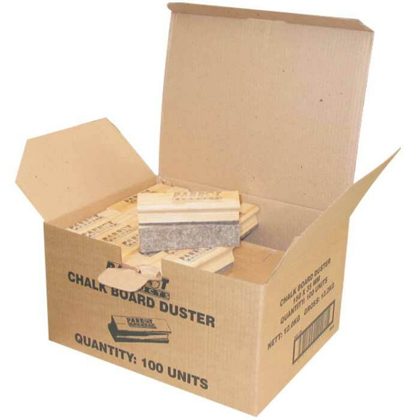 Chalk Board Wood Duster 15035mm - Boxed 100 - Grey