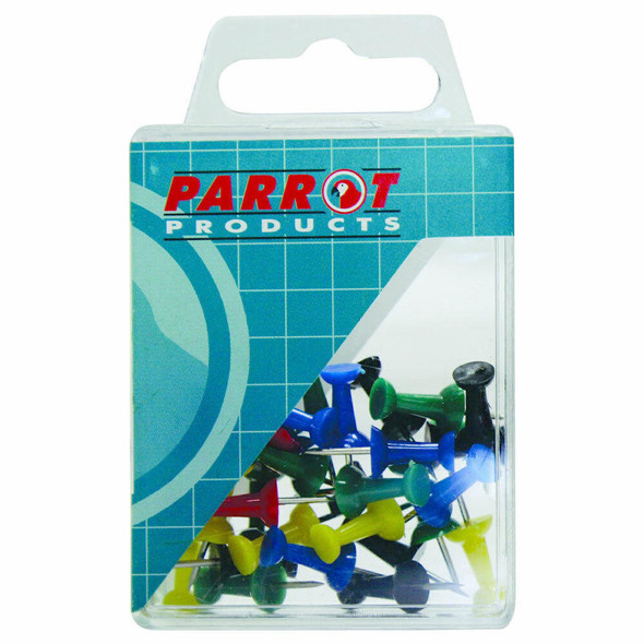 Push Pins Boxed Pack - 30 Assorted
