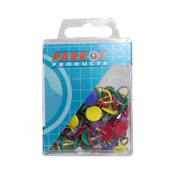 Drawing Pins Boxed Pack 100 - Assorted