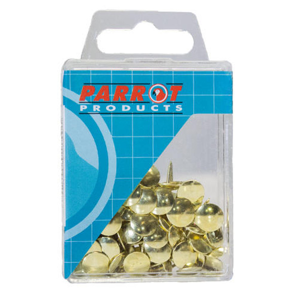 Drawing Pins Brass Boxed Pack 100