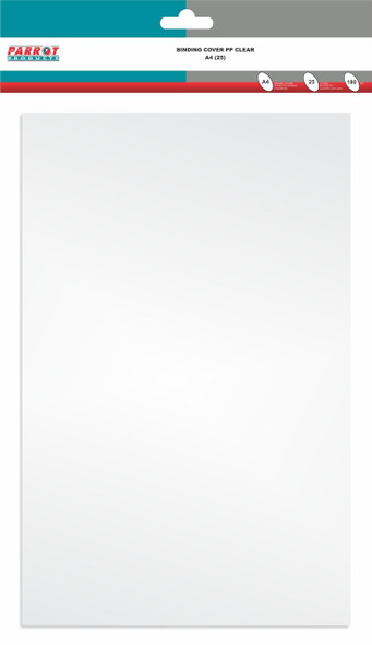 Clear Polypropylene Binding Cover A4 - 180GSM - Pack of 25