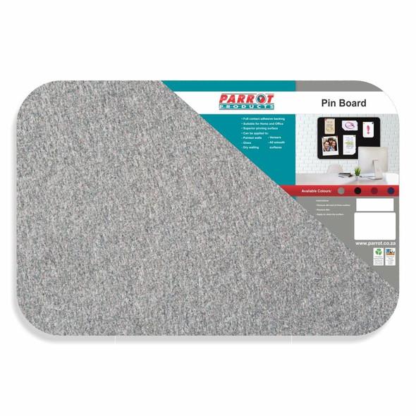 Adhesive Pin Board No Frame - 600450mm - Grey
