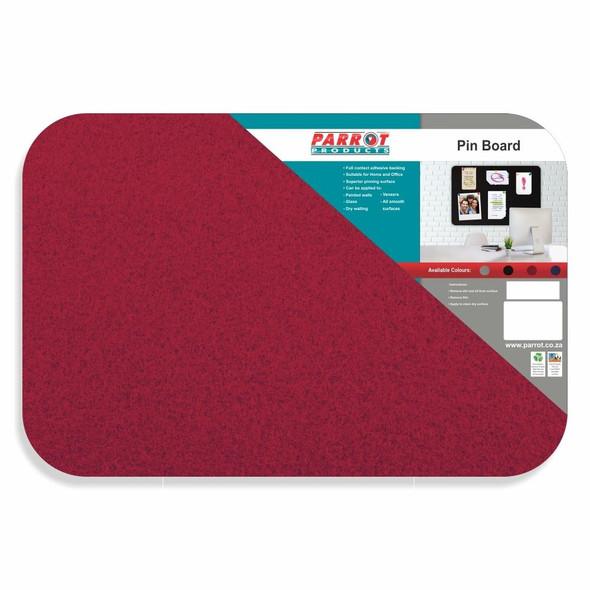Adhesive Pin Board No Frame - 600450mm - Red