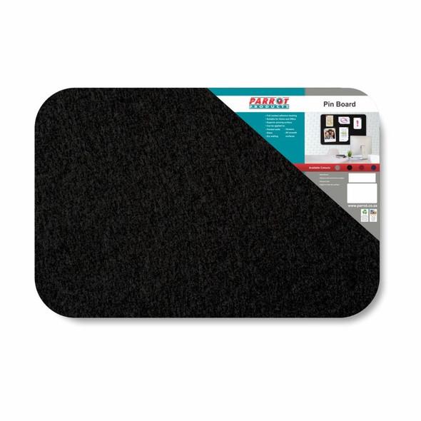 Adhesive Pin Board No Frame - 900600mm - Black