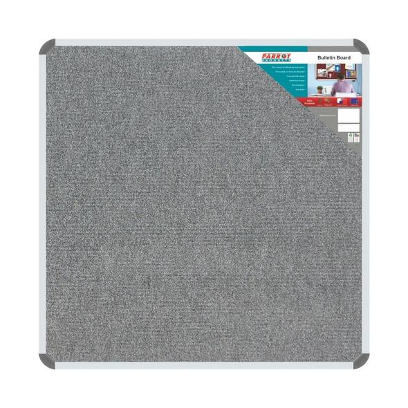 Bulletin Board Ribbed Aluminium Frame 900x900mm - Laurel