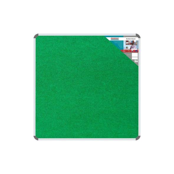 Bulletin Board Ribbed Aluminium Frame 900x900mm - Palm