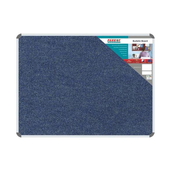Bulletin Board Ribbed Aluminium Frame 1200x90mm - Denim