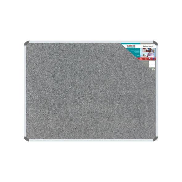 Bulletin Board Ribbed Aluminium Frame 1200x900mm - Laurel
