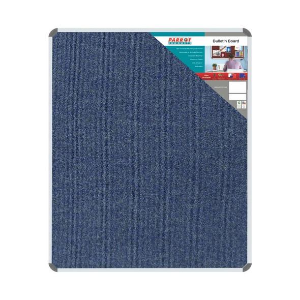 Bulletin Board Ribbed Aluminium Frame 1200x1000mm - Denim