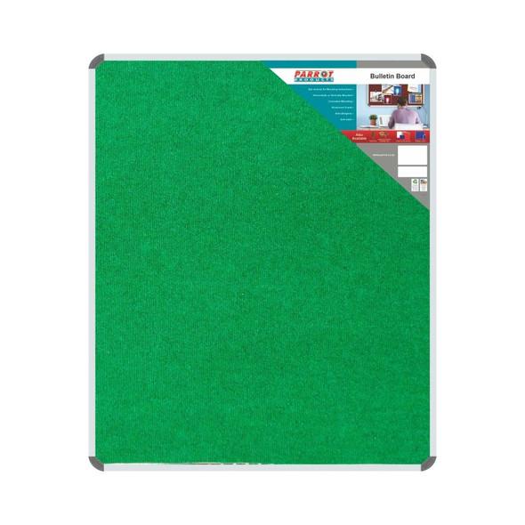 Bulletin Board Ribbed Aluminium Frame 1200x1000mm - Palm