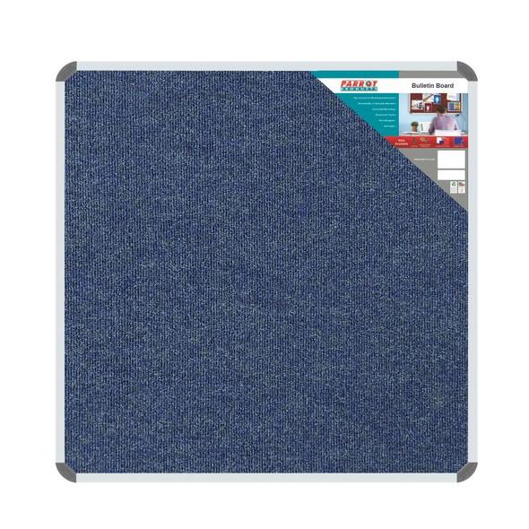 Bulletin Board Ribbed Aluminium Frame 1200x1200mm - Denim
