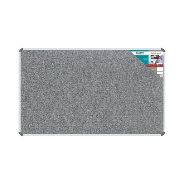 Bulletin Board Ribbed Aluminium Frame 1500x900mm - Laurel