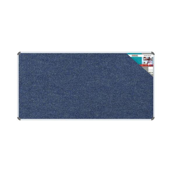 Bulletin Board Ribbed Aluminium Frame 1800x900mm - Denim