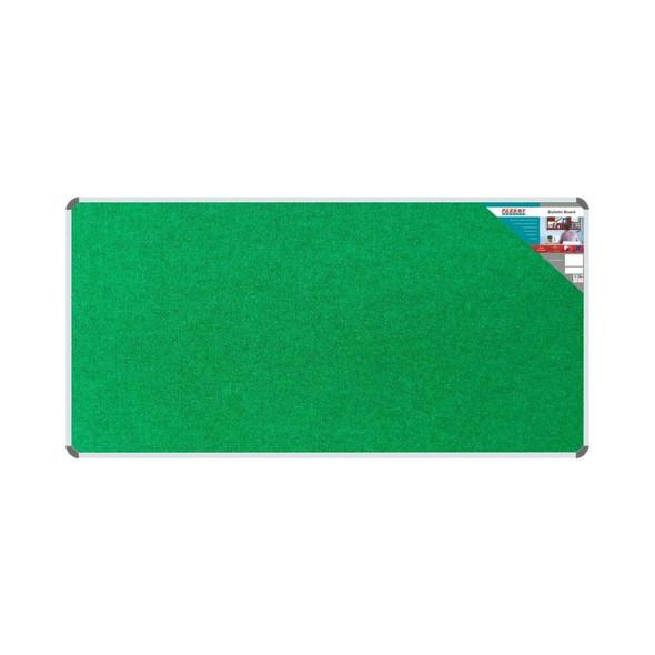 Bulletin Board Ribbed Aluminium Frame 1800x900mm - Palm