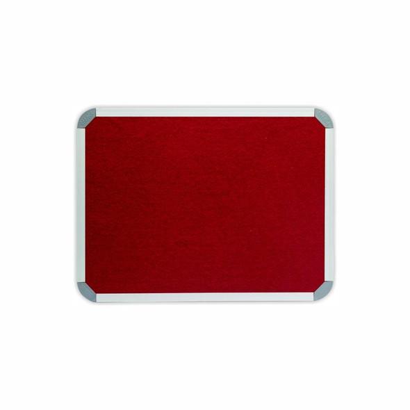 Info Board Aluminium Frame - 600450mm - Burgandy