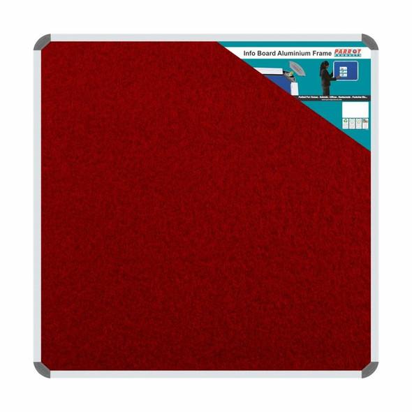 Info Board Aluminium Frame - 900900mm - Burgandy