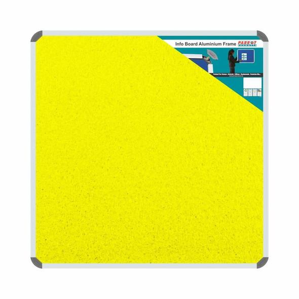 Info Board Aluminium Frame - 900900mm - Yellow