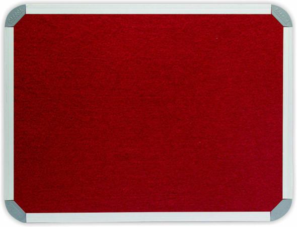 Info Board Aluminium Frame - 1500900mm - Burgandy
