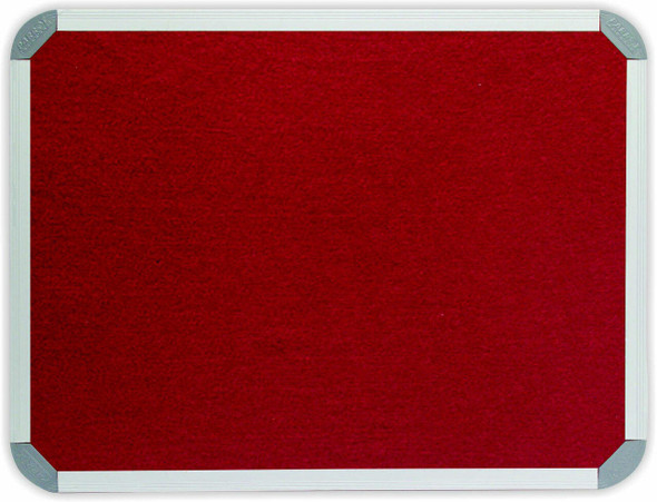 Info Board Aluminium Frame - 18001200mm - Burgandy