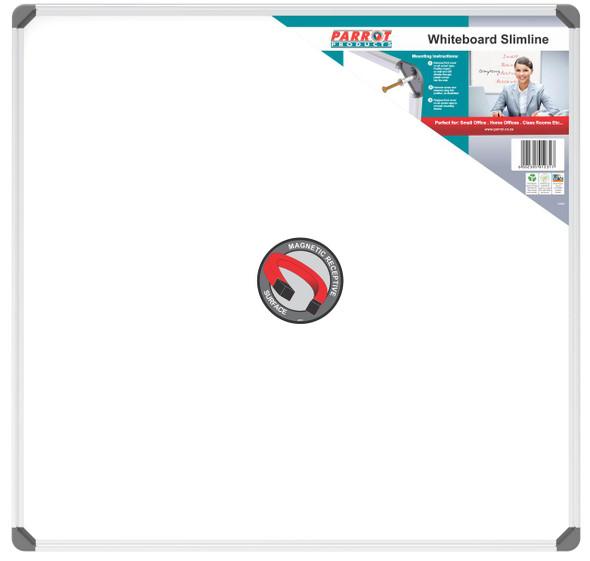 Slimline Magnetic Whiteboard 900900mm